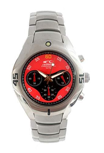 Chronotech Herren Analog Quarz Uhr mit Edelstahl Armband CT7217-04M
