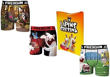 Freegun - Lote de 3 bóxer con bolsa de regalo, colección oficial para hombre multicolor XL