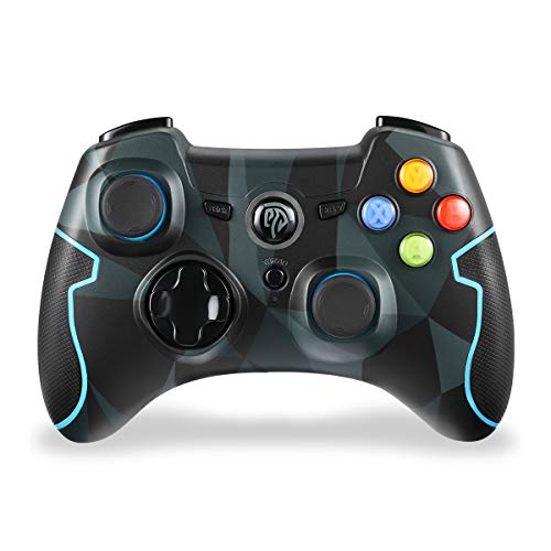 EasySMX Joystick ESM-9013 2.4G Wireless Gamepad Controller mit Dual Vibration Turbo für PS3 / Android Tablet / Window PC (Camouflage)