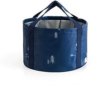 Portable Folding Bucket, 12L Multifunctional Collapsible Portable Travel Outdoor Wash Basin Lightweight Folding Basket Folding Bucket for Camping Hiking Travelling Fishing Washing Fruit Basket
