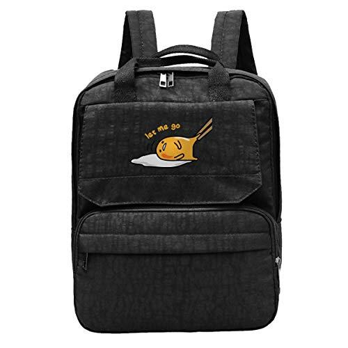 WUHONZS 旅行用バックパック 日本製 ぐでたま レイジーエッグ ジム ハイキング デイパック カレッジ ラップトップとノートブックバッグ 男女兼用
