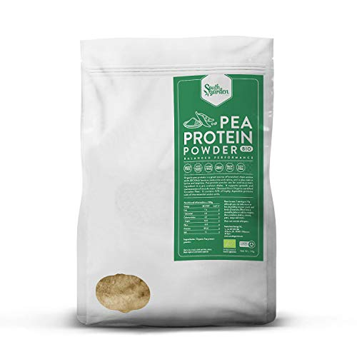Proteine del Pisello in Polvere BIO 1 Kg | SOUTH GARDEN | 82% Proteine | Aumento Massa Musculare | Vegane | Senza Glutine, Lattosio né Zuccheri Aggiunti