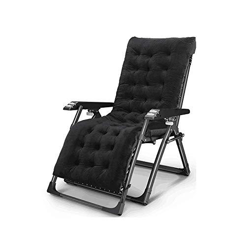 ZDZY Sillón reclinable, reclinable Plegable de Gravedad Cero con reposabrazos de Masaje para Silla de Ocio de Interior Lazy Camping Garden Beach Sun Silla reclinable, 0 ° -166 ° Chai Ajustable