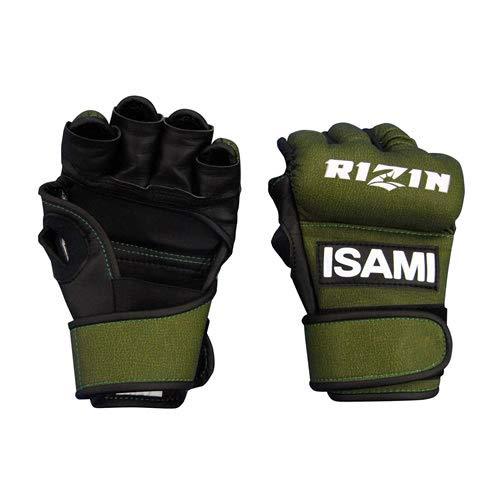 isami イサミ RZ-001 RIZIN オープンフィンガーグローブ 格闘技 武道 空手 キックボクシング 総合格闘後 (グリーン, L)
