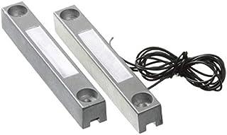 Sensor apertura puertas magnetico con cable WD101 cableado contacto para centrales de alarma conexion