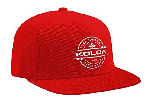 Koloa Surf(tm) Thruster Logo Solid Snap-Back Hat Red/w