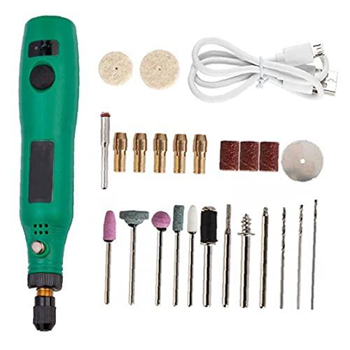 Kit de Herramienta giratoria sin cordón Mini Rotary Multi-Herramienta Accesorios Amoladora eléctrica para Herramientas eléctricas de Pulido del Grabado de Limpieza 24pcs