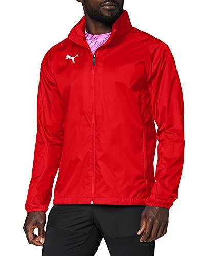 PUMA Herren Liga Core Training Rain Jacket, Red White, L
