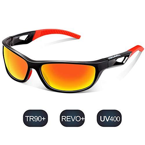 X-TIGER Radbrille Polarized Sonnenbrille Tr90 Superlight Frame mit 3 Wechselgl/äsern UV400-Schutz f/ür Herren und Damen,zum Radfahren Skifahren Autofahren Fischen Laufen Wandern Sport