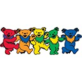 GDP - Mini Grateful Dead Dancing Bear ステッカー Sticker, Assorted - Weather Resistant, Long Lasting for Any Surface