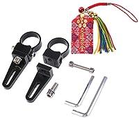 フォグランプ パイプ ステー ブラケット 38MM 2個 汎用 カゴ ライト 取付金具 LED作業灯 お守り付