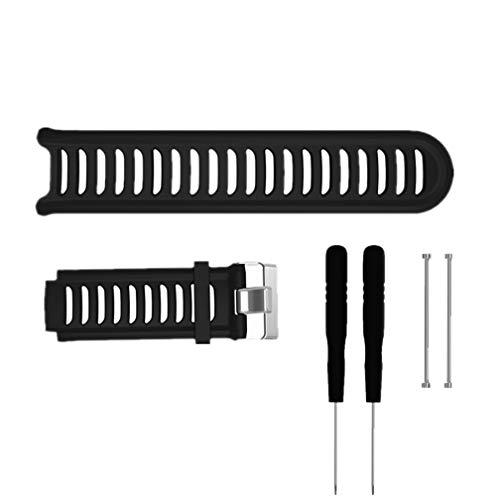 Meiruo Armband für Garmin Forerunner 910XT, Ersatz-Armband Zubehör Armband für Garmin Forerunner 910XT-Schwarz