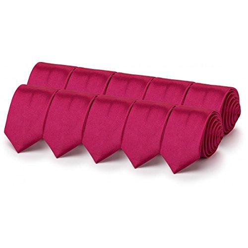 Rusty Bob - JGA-Krawatten-Set-Junggesellen-Abschied-Der letzte Tag in Freiheit-Motto-Party-Zubehör im Sparpack-Hochzeitsvorbereitung-Kostüm - 10 Stück-Pink Farbige Krawatten im Set zum Sonderpreis
