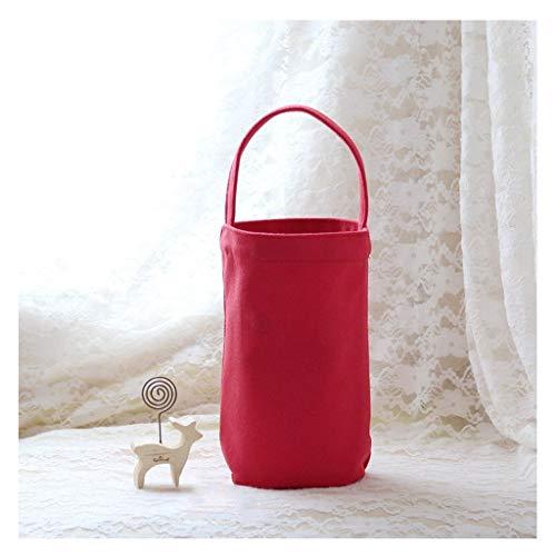 hongbanlemp Bolsa de Transporte Café Té Leche portátil con Forma de Barril Mini Botella de Agua portátil Bolsa de protección y Lavable-3 Colores (PC 1). (Color : B)