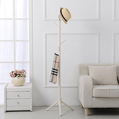 Dongyd Perchero de madera maciza para colgar en el suelo o el dormitorio doméstico simple Perchero europeo moderno creativo (color: # 1)