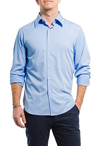 Banqert SMART Swag - Camicia da uomo in tessuto resistente alle pieghe Colori blu cielo S