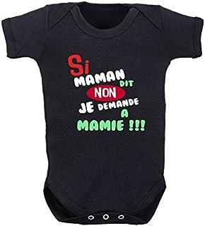 Spreadshirt Jaime Ma Maman Body B/éb/é Bio Manches Courtes