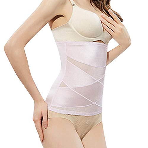 Fine Women Belt Body Shapewear Hi-Waist Tummy Control Panty Waist Trainer Slimmer Compression Band for Weight Loss Workout Fitness (Purple, S)
