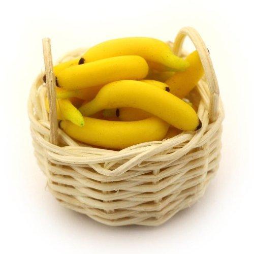 MyTinyWorld Poupées Miniature Panier de Main Vrac Bananes