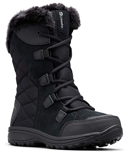 Columbia Women's ICE Maiden II Snow Boot, Black, Grey, 8 B US