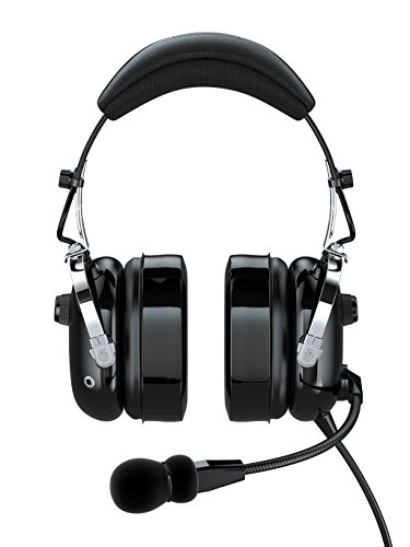FARO G2-PNR Premium Pilot Aviation Headset with Mp3 Input (Adapters for aviation headset connectors, standard dual GA adapter universal support)-Black