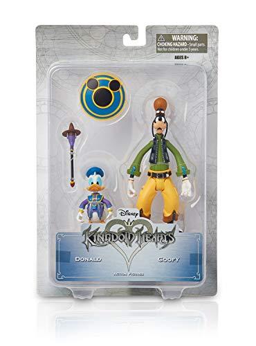 Kingdom Hearts Disney Figuras de Acción para Coleccionar, Juguetes Coleccionables para Adultos y Niños, Accesorios, Regalos para Niños Adolescentes Adultos (Donald y Goofy)