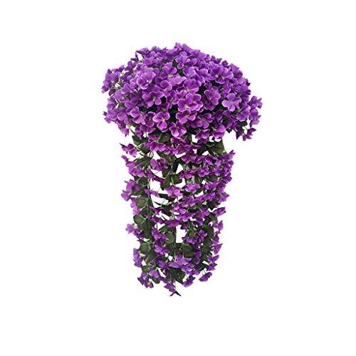 Hängende Girlande, Trauben von künstlichen violetten Bracketplant hängenden Girlandenblumen Traling 2PC, Wohnkultur Dekoartikel Wohnaccessoires Accessoires