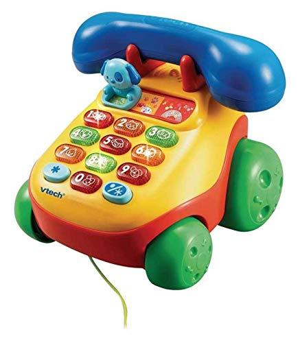 VTech Teléfono Interactivo Infantil con luz y Voz, Multicolor (3480-068422)