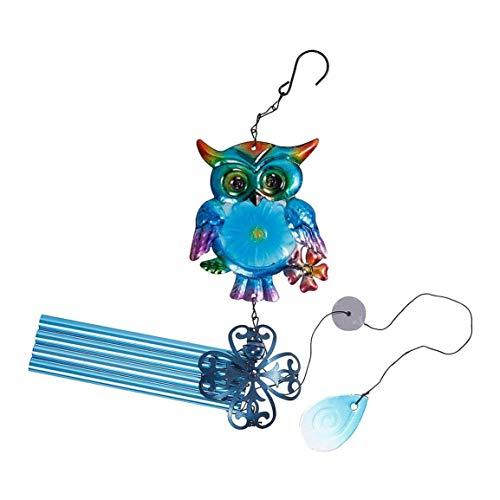 Qingchul Eule Wind Glockenspiel Metall Handwerk Glasmalerei Hängende Verzierung Kreative Home Bell Anhänger Gartendekoration