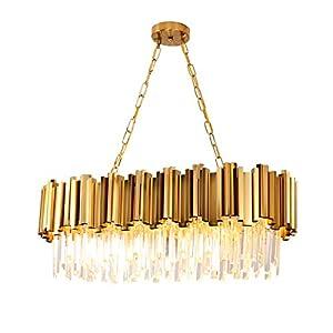 8 Light Modern Chandeliers Crystal Chandelier Pendant Lights Fixture for Dining Room, Bathroom, Bedroom, Living Room, Pool Table Light E12 Bulb Required