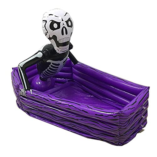 Inflatable Skeleton Beverage Ice Bucket, Halloween Skeleton Beer Drinking Cooler Pool Party Decoration Supply, Portable Inflatable Serving Bar, Pool Party Decor, Best Gifts