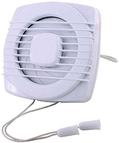 Uitlaat fan huishouden wand-badkamer keuken wc sterke ventilator glazen venster geluiddemper fan (grootte: 150 * 150mm)