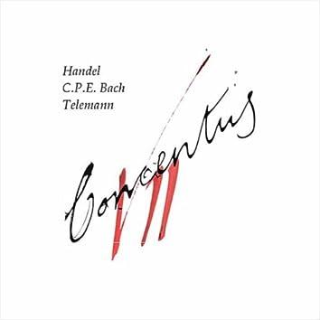 Handel, CPE Bach, Telemann