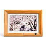 KODAK デジタルフォトフレーム【いつまでも色褪せない写真を飾る リモコン操作簡単 壁掛け可能】IPS液晶 1280*800 8GBメモリー MMC/SD/USBに対応 フレーム向きによって自動回転 写真/動画/音楽再生 時計/カレンダー機能付き 日本语取扱説明書付属(10インチ,木目)