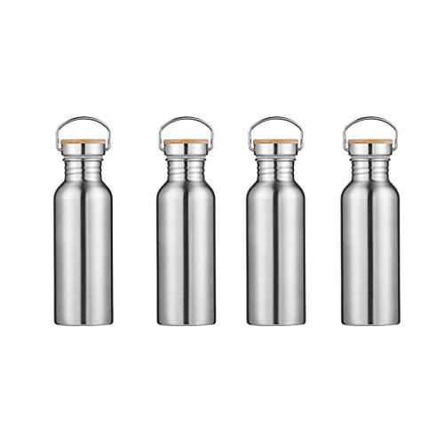 MagiDeal 4X Bouteille Isotherme en Acier 600ml à Double Paroi Etanch,Bouteille de Boisson pour Sport Camping Randonnée Water Bottle