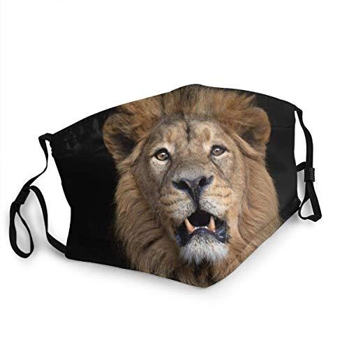 yting Atmungsaktive Gesichtsmaske Porträt eines asiatischen Löwen Sun-Proof Fashion Bandana Kopfbedeckung zum Angeln