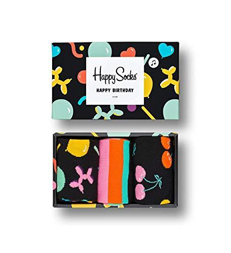 Happy Socks Gemischt farbenfrohe Geschenkbox an Baumwollsocken für Männer und Frauen,Balloon Animal,41-46