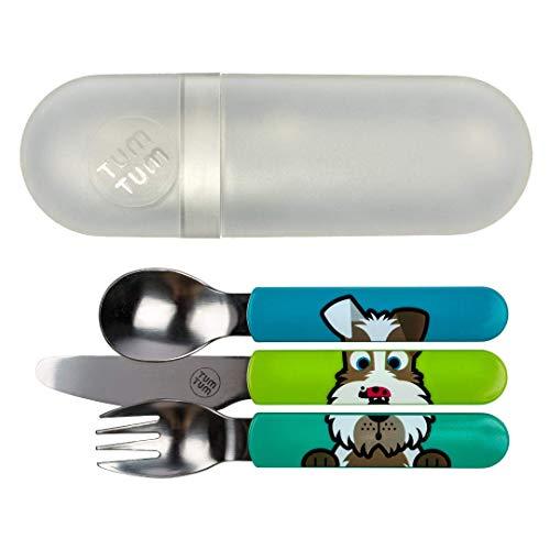 Besteck-Set 3-teilig (Messer, Löffel, Gabel) Hund Scruff