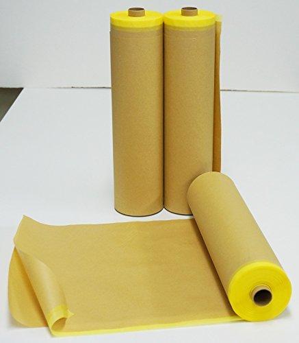 車両用 養生 マスカー 紙 550mm×35m(マスキングテープ付き) 1本 /養生紙 塗装 マスキング 養生テープ