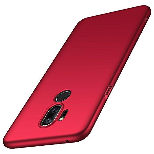 anccer LG G7 ThinQ Hülle, LG G7 Hülle, [Serie Matte] Elastische Schockabsorption & Ultra Thin Design (Glattes Rot)