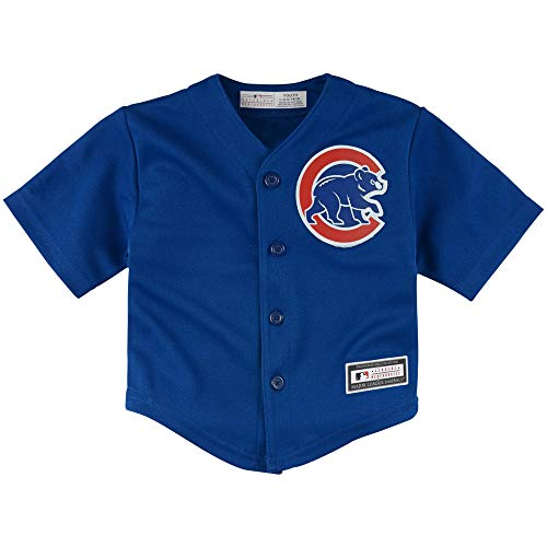 Outerstuff MLB Infants Toddler Blank Cool Base Alternate Road Team Jersey (Chicago Cubs Alternate Blue, 4T)