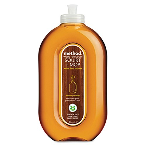 Squirt + Mop Wood Floor Cleaner, Almond Scent, 25 oz Squirt Bottle, 6/Carton