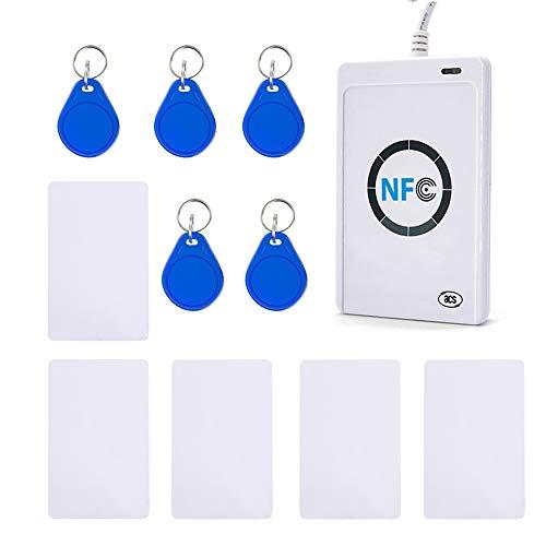 Extaum Intelligenter Kartenleser ACR122U RFID Writer Kopierer Duplizierer Beschreibbare Karten Klonmaschine