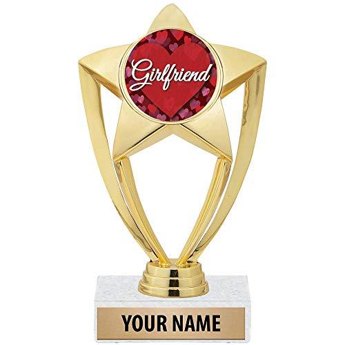 "Crown Awards 6"" Customizable Girlfriend Trophy"