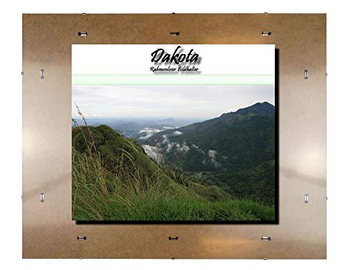 Rahmenloser Bildhalter Dakota. Anfertigung nach Maß. Hier: 50 x 150 cm mit 2 mm Acrylglas Antireflex