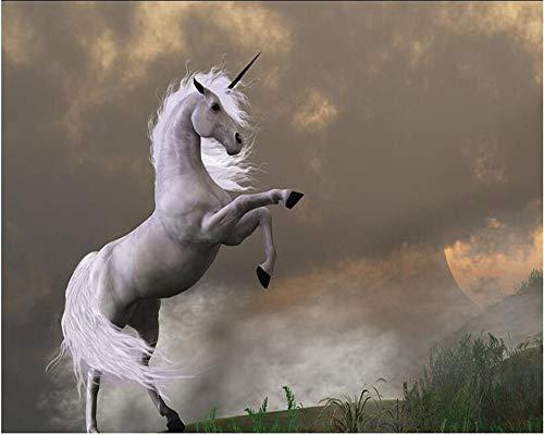 Fondo de pantalla de unicornio bestia decoración de interiores pintura dormitorio sala de estar 250×175cm