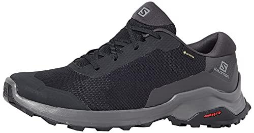 Salomon X Reveal Gore-Tex (impermeable) Hombre Zapatos de trekking, Negro (Black/Phantom/Magnet), 43 ⅓ EU