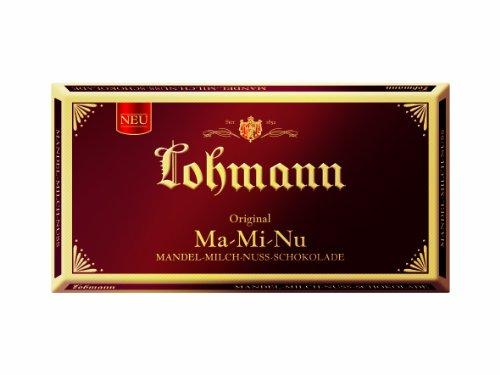 Lohmann MA-MI-NU Mandel-Milch-Nuss Schokolade, 4er Pack (4x 100 g)