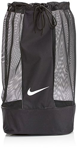 Nike Club Team Swoosh Soccer Ball Bag - Black/Black/White, 86 x 47 x 47 cm,...