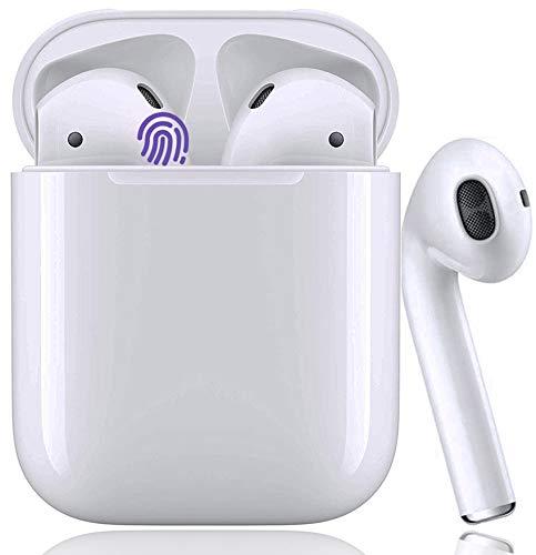 Auriculares Bluetooth Auricular Inalámbrico 5.0 Control Táctil HiFi Estéreo con Graves Profundos In-Ear Auriculares Bluetooth con Caja de Carga Rápida IPX7 Impermeables,para iOS/Android